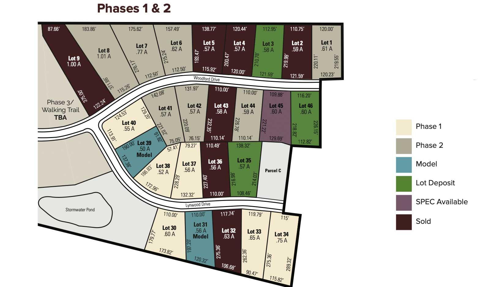 Woodland Trace Plot Plan